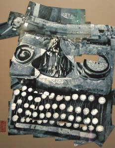 Typewriter, Photo-Collage by Jules White, borrowed without permission but with a nice link