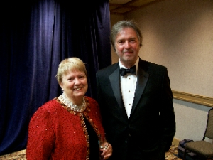 Margaret Maron and Charles Fraziers, winners of the 2008 North Carolina Award in the field of literature