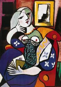 """Woman With Book,"" Pablo Picasso"