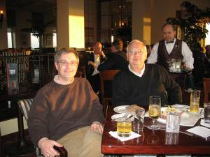 Dad and I having drinks at Top of the Mark.